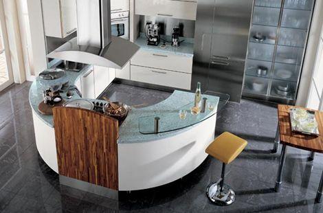 Circular Kitchen from Carma Cucine - new Milea ergonomically shaped ...