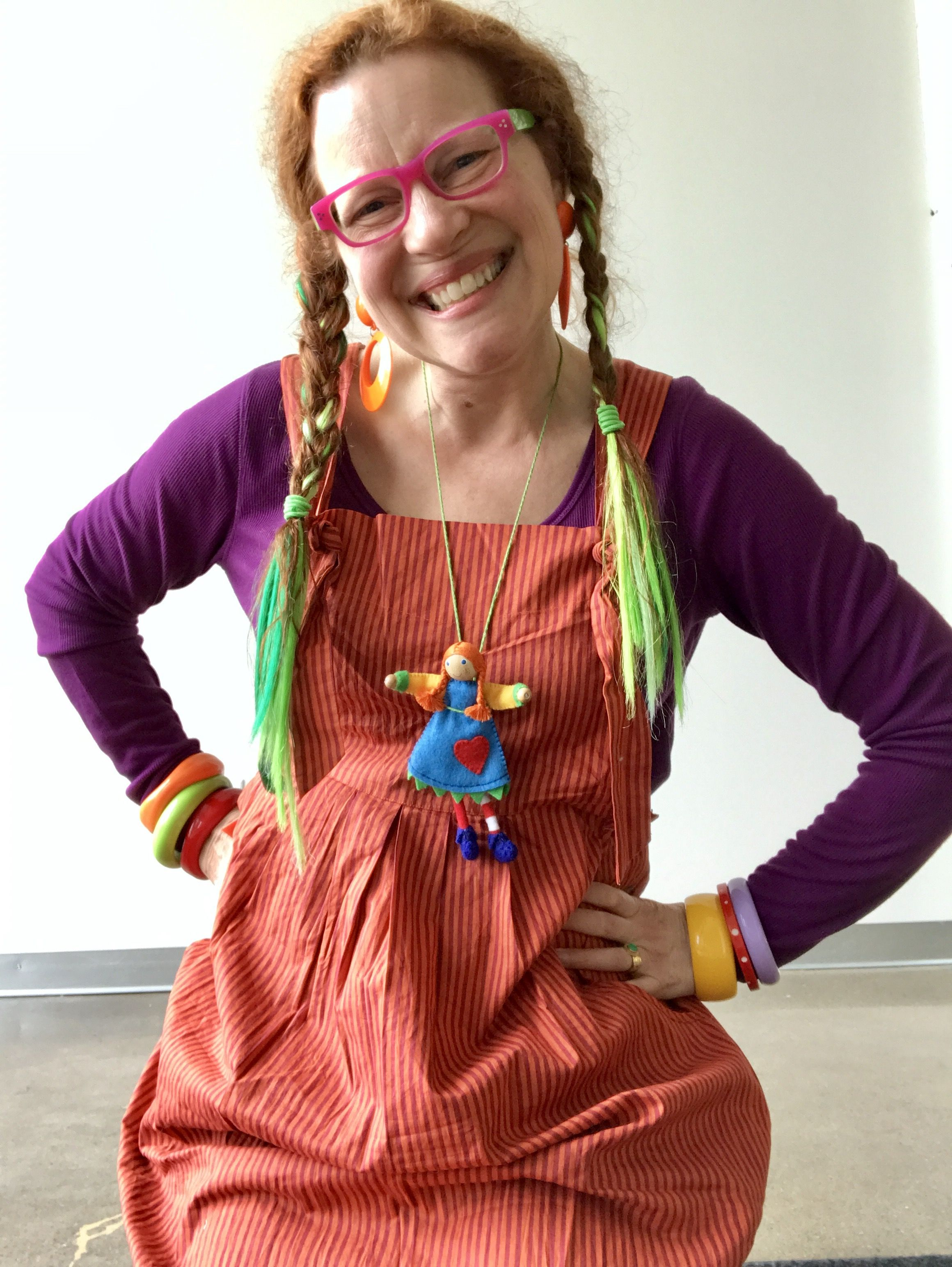 foto de Rachel Awes in summer 2017 Gudrun Sjoden chili striped