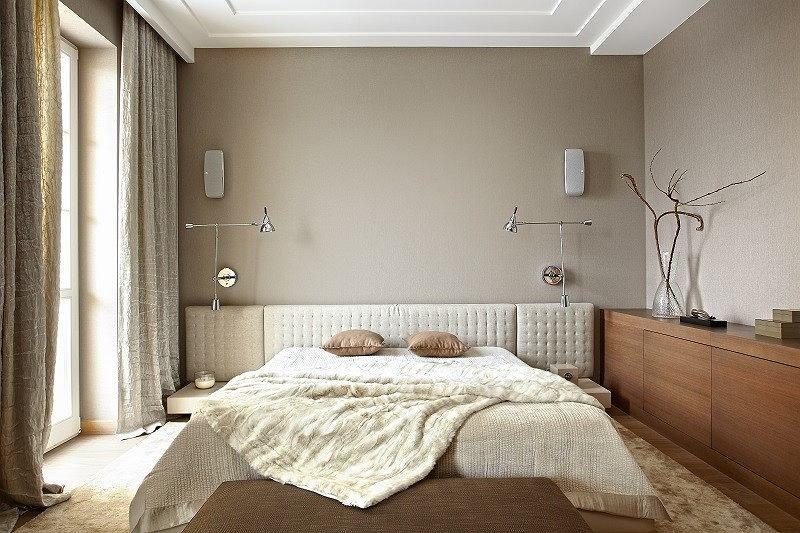 Sypialnia Cała W Beżach I Kremach łóżko Cinova Kinkiety