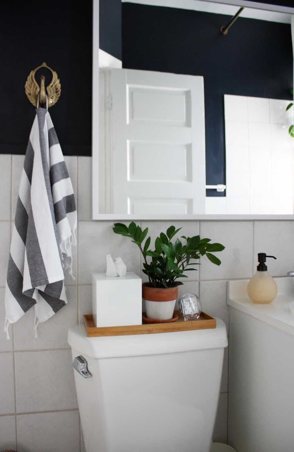 The 50 Best Small Bathroom Ideas To Try Asap Apartment Therapy A Tray On The Toilet For A Candle And Small Bathroom Decor Small Bathroom Windowless Bathroom