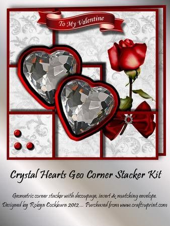 Crystal Hearts Geo Corner Stacker Kit - CUP295687_123 | Craftsuprint