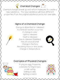Exploring Physical And Chemical Changes Chemical Changes