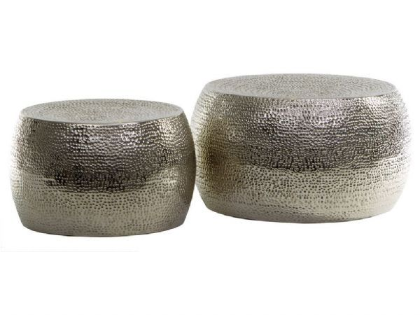 Round Silver Stools. Eclectic Coffee Table/ Side Table Option Similar At  Taylor B Or