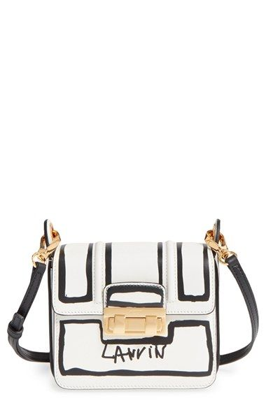 Lanvin Mini Jiji Outline Leather Crossbody Bag Available At Nordstrom