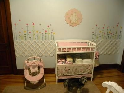 Butterfly Garden Nursery: I Wasnt Sure What I Was Going To Do With Her Room