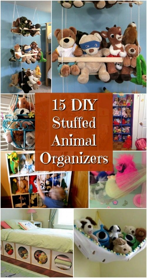 15 Creatively Simple DIY Stuffed Animal Organizers For Kids' Rooms -   19 diy storage for kids ideas