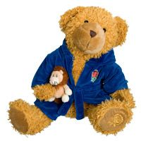 England Rugby Bathrobe/Lion Ltd Edition Bear. England Rugby Bathrobe/Lion Ltd Edition Bear. http://www.comparestoreprices.co.uk/soft-toys/england-rugby-bathrobe-lion-ltd-edition-bear-.asp