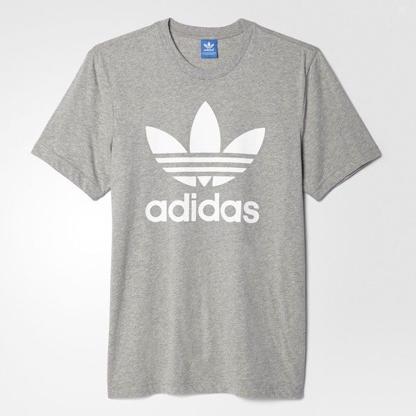 Men's Adidas T shirt Grey adidas T shirt with white stripes