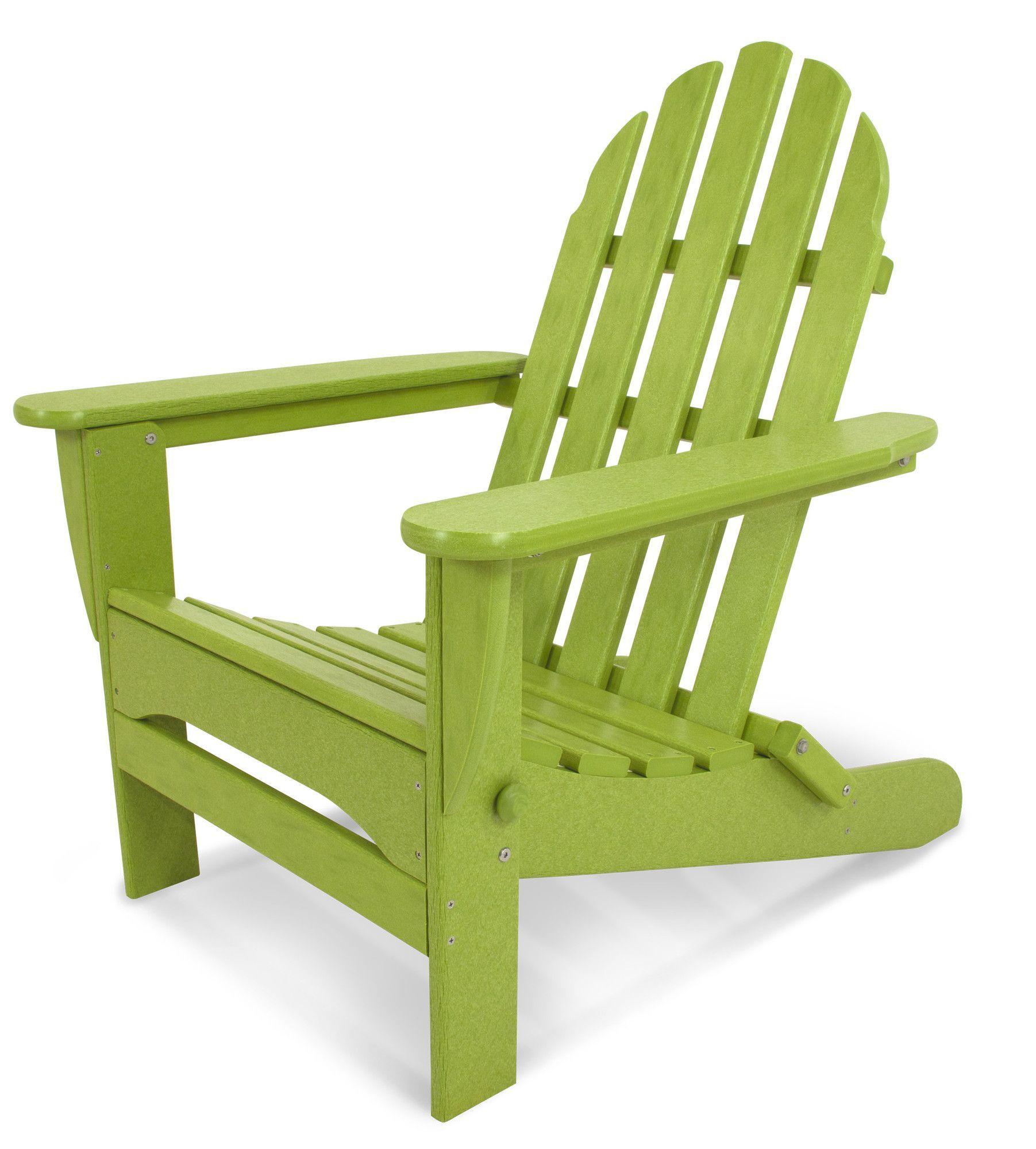 Classic Plastic Adirondack Folding Chair Plastic Adirondack
