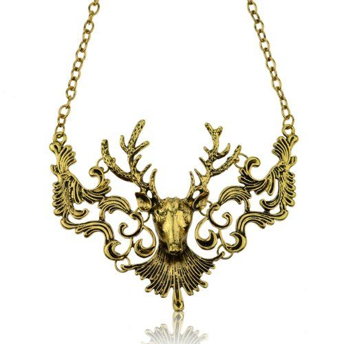 Soyagift The Stag House of Baratheon Sigil Carved BIB Silver Pendant Chain Necklace 18-1 Soyagift http://www.amazon.com/dp/B00CNKRNY6/ref=cm_sw_r_pi_dp_niXivb18PC92H