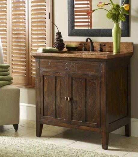 Elegant Bathroom Decorating: Rustic Bathroom Vanities Dallas