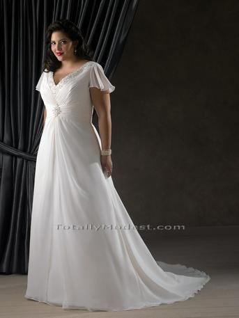 plus size wedding dresses. This is beautiful, even for smaller sizes!!