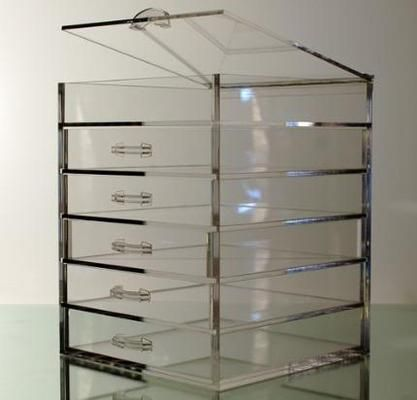 The Kardashian Makeup Organizer I Want So Bad But Nobody - Acrylic cube makeup organizer with drawers