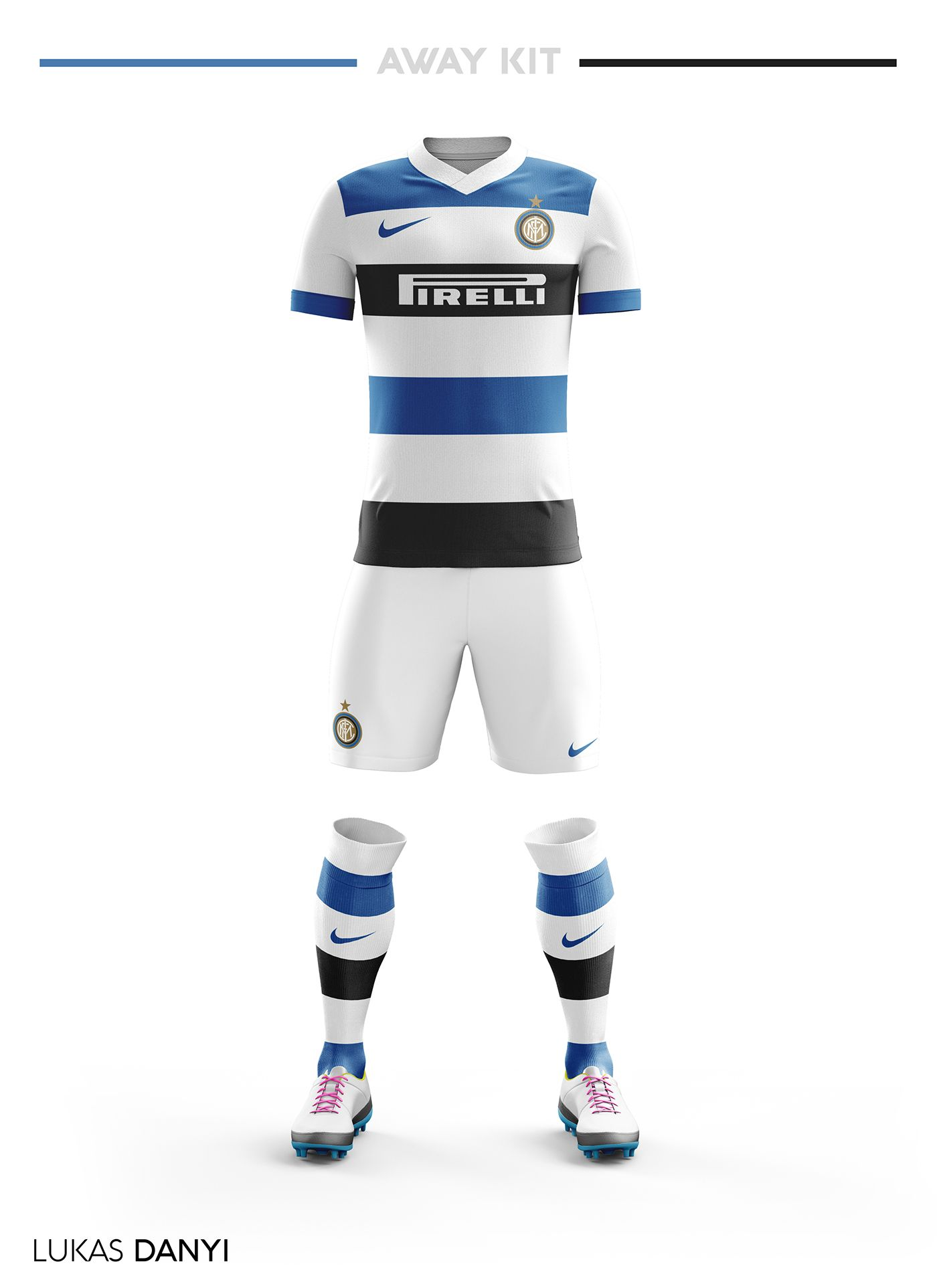I designed football kits for FC Internazionale Milano ...