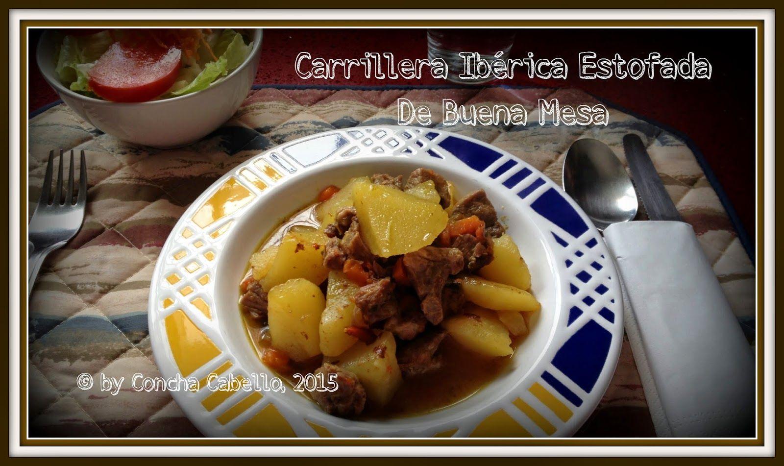 De Buena Mesa: Carrillera Ibérica Estofada http://denuestracasa.blogspot.com.es/2015/03/carrillera-iberica-estofada.html