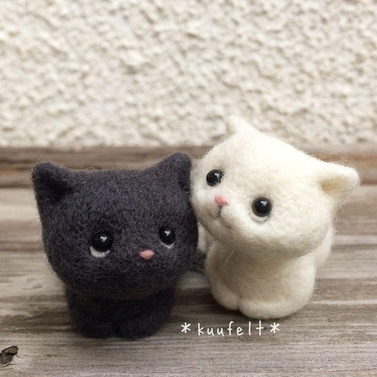 needle felt cats #needlefeltedcat needle felt cats #needlefeltedcat
