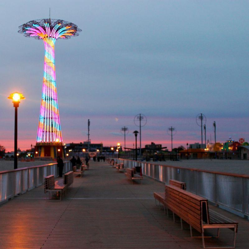 Coney Island Beach: On The Pier, Coney Island Beach & Boardwalk, Brooklyn