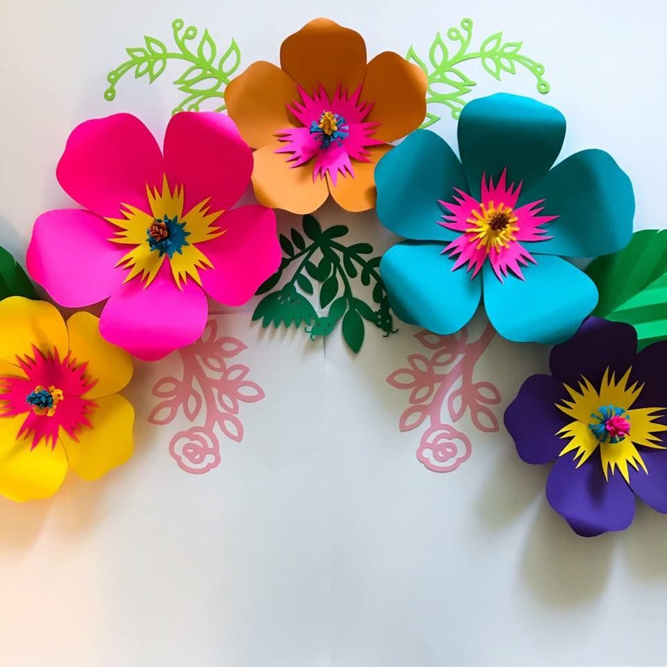 Flores De Papel Crafts Paper Flowers Flower Template Giant