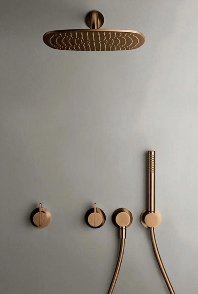 Photo of Rainshower from byCOCOON.com | copper rain shower | designer bathroom | luxury b…