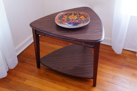 Stylish Triangle Table With Formica Top Lovely Two Tier End