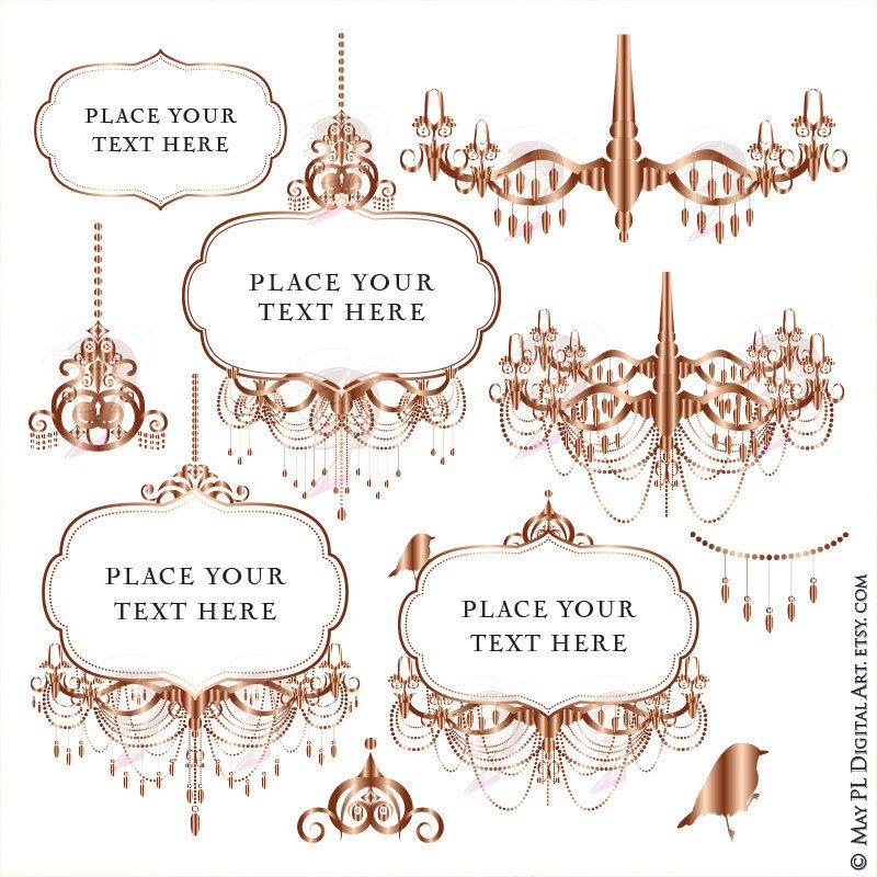 BEST OFFER, BUY THREE SETS, GET ANOTHER FREE! Rose gold chandelier ...