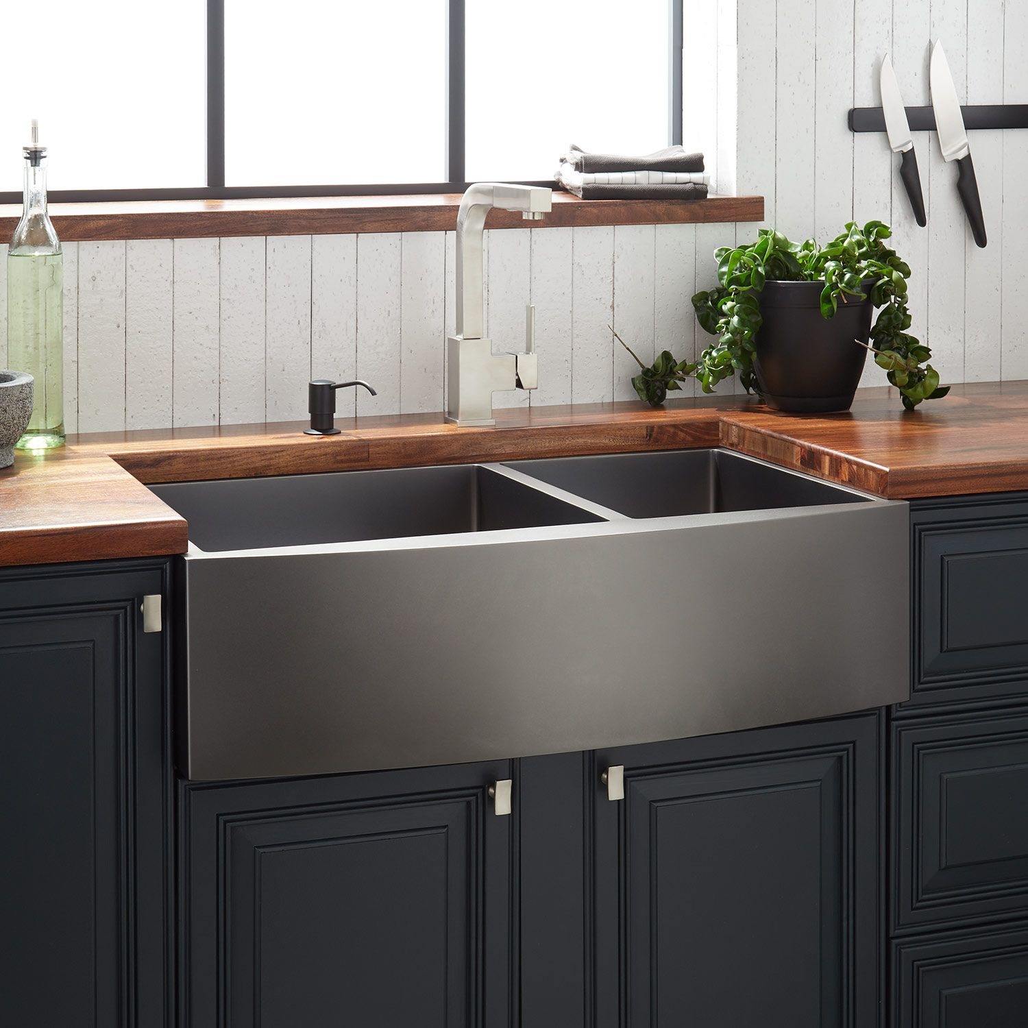 33 atlas 6040 offset doublebowl stainless steel