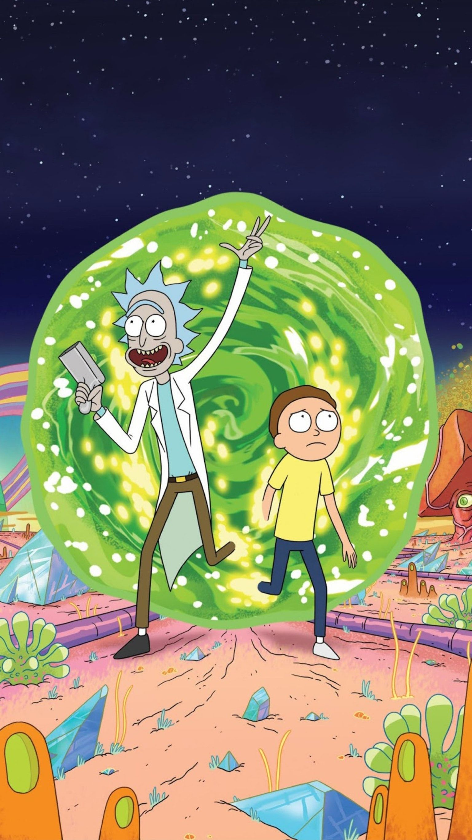 Rick and Morty Phone Wallpaper | favoritos | Rick y morty, Rick y e Ricky y morty