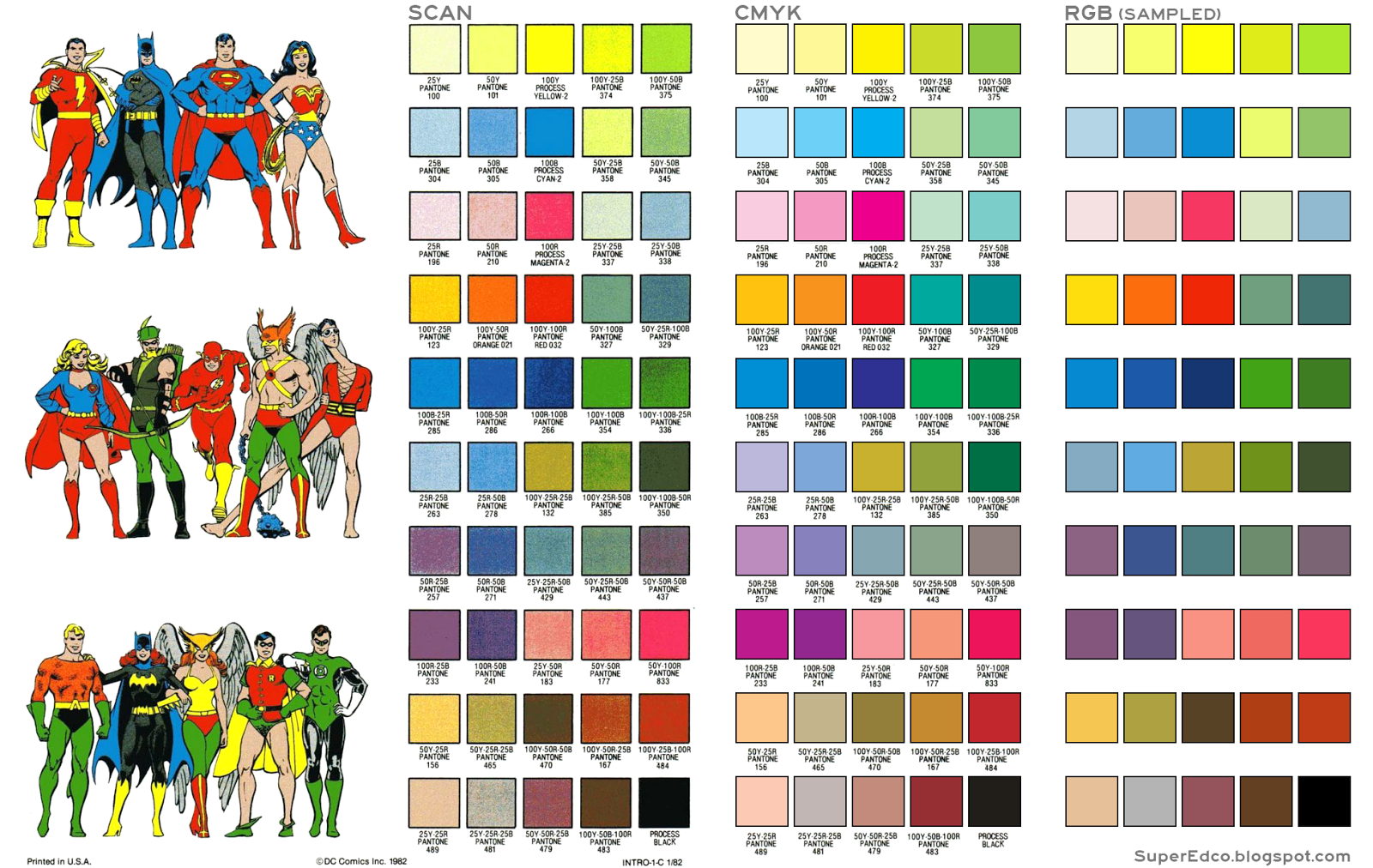 Super Edco: DC Color Guide with CMYK + RGB