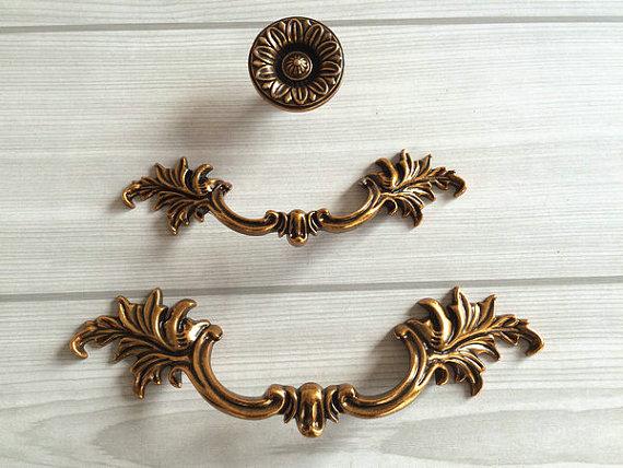 "3/"" 3.75/"" Antique Bronze Dresser Knob Drawer Pulls Cabinet Handle Drop Bail 76 96"