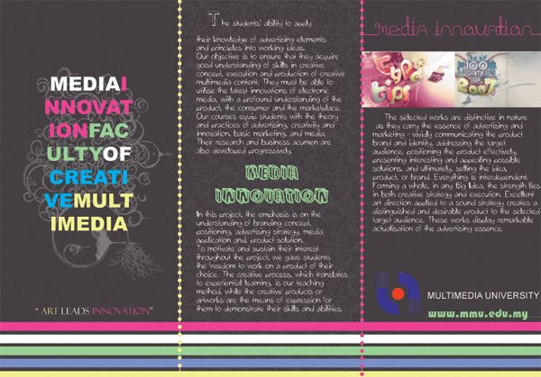 neon brochure using different types of lines