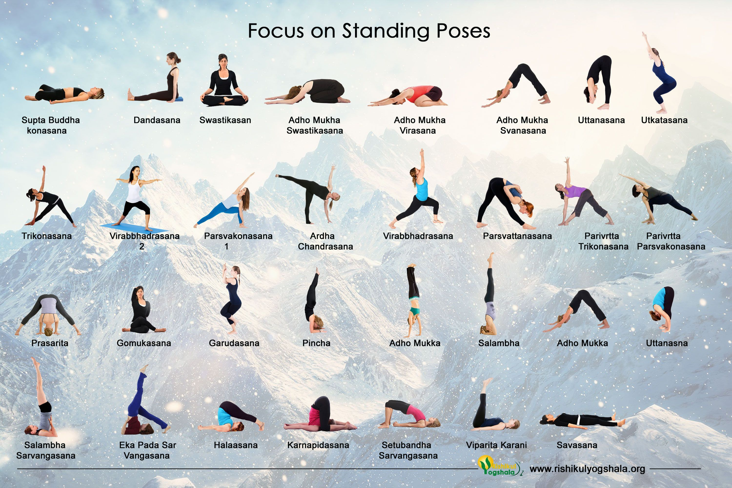 Standing yoga postures require both strength and flexibility, and