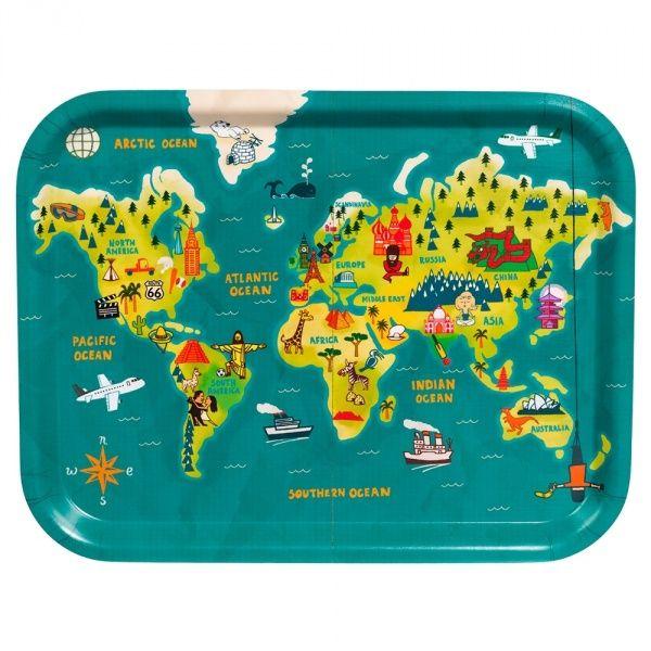 Paul Thurlby World Map Tray | Wild