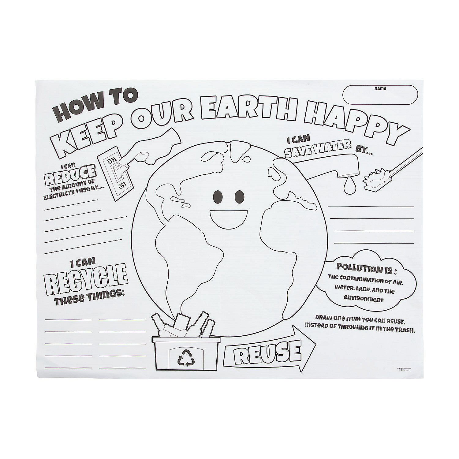 Color Your Own Earth Day Posters With Images