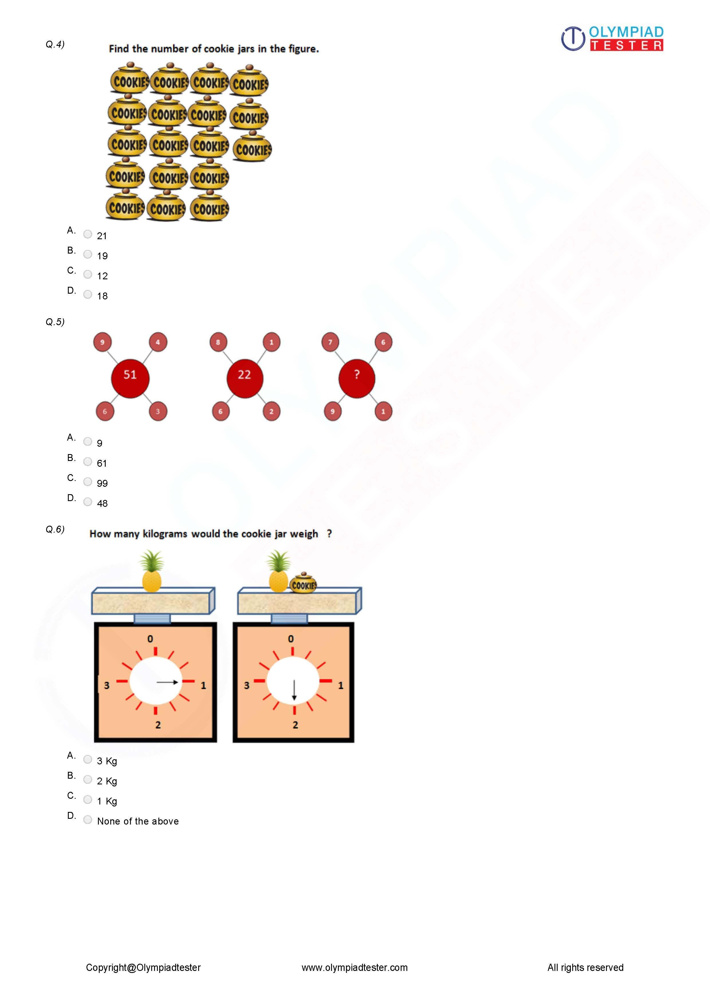 Class 3 Logical Reasoning Worksheet 03