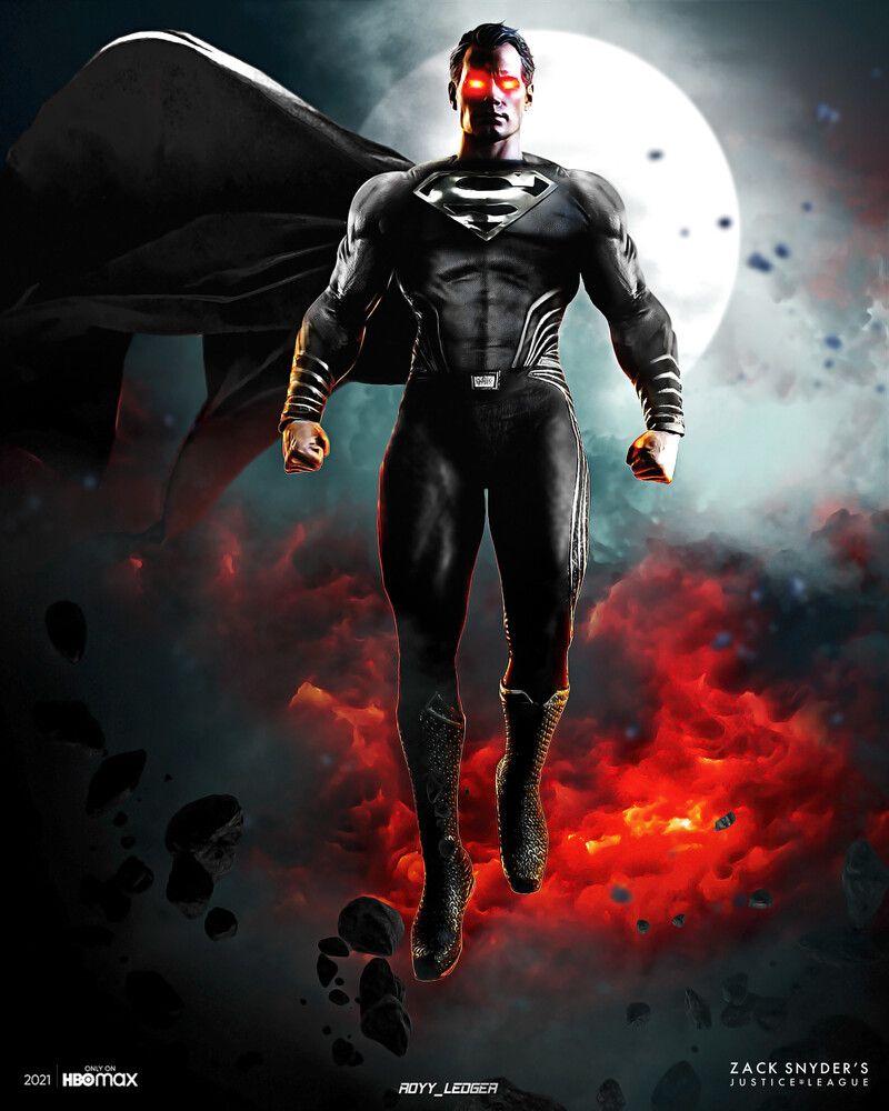 Artstation Zack Snyder S Justice League Black Suit Superman Royy Ledger In 2021 Dc Comics Wallpaper Iphone Dc Comics Wallpaper Superman Wallpaper