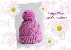 Kostenlose Mütze Strickanleitung - Spiralibus - Gedrehte Kindermütze