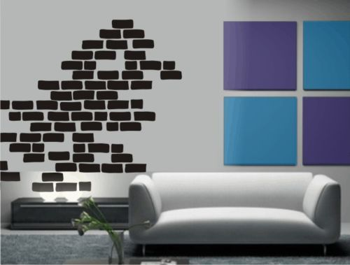 Bricks Wall Sticker Vinyl Decal Art Phrase EBay Cool Stuff - Vinyl wall decals brick