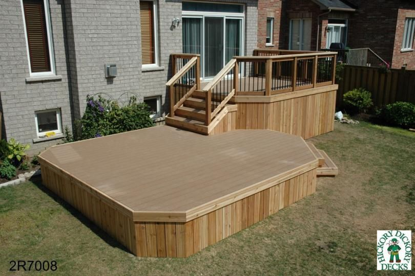 The complete guide about multi level decks with 27 design for High elevation deck plans