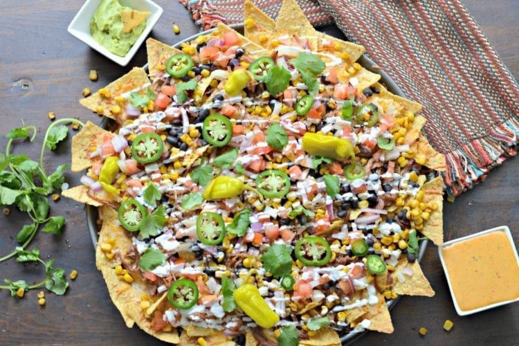 Smoked Nachos made on a wood pellet grill with all the ...