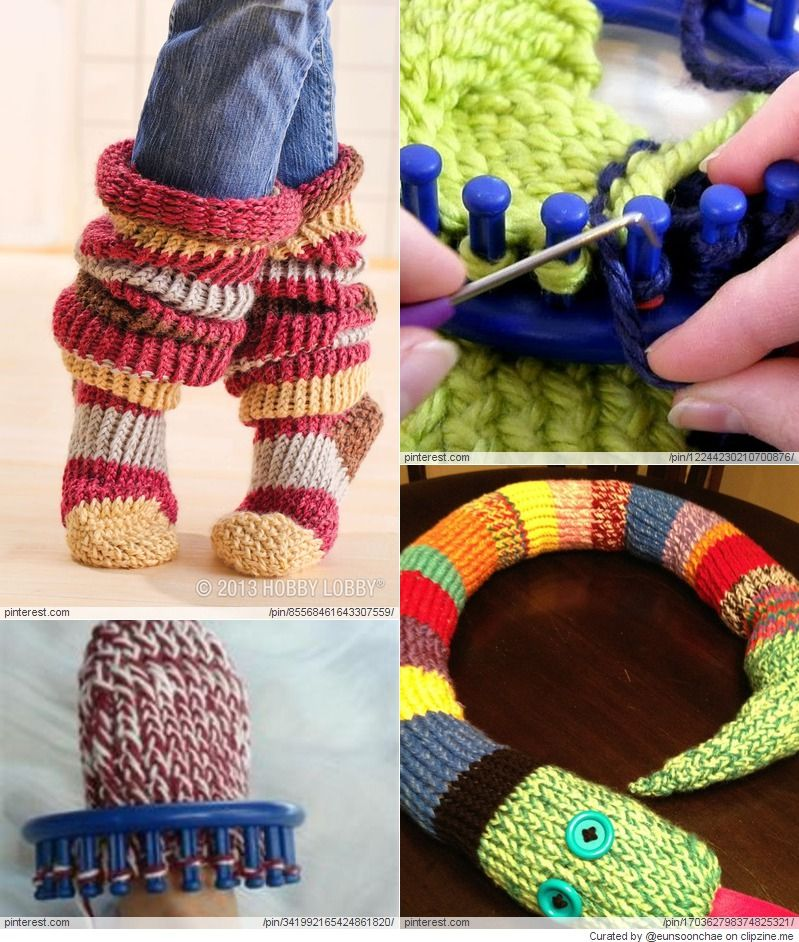 Loom Knitting Projects (With images) | Loom crochet, Loom ...