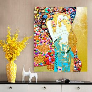 Mother Daughter gift for Women Mother child canvas painting   Etsy