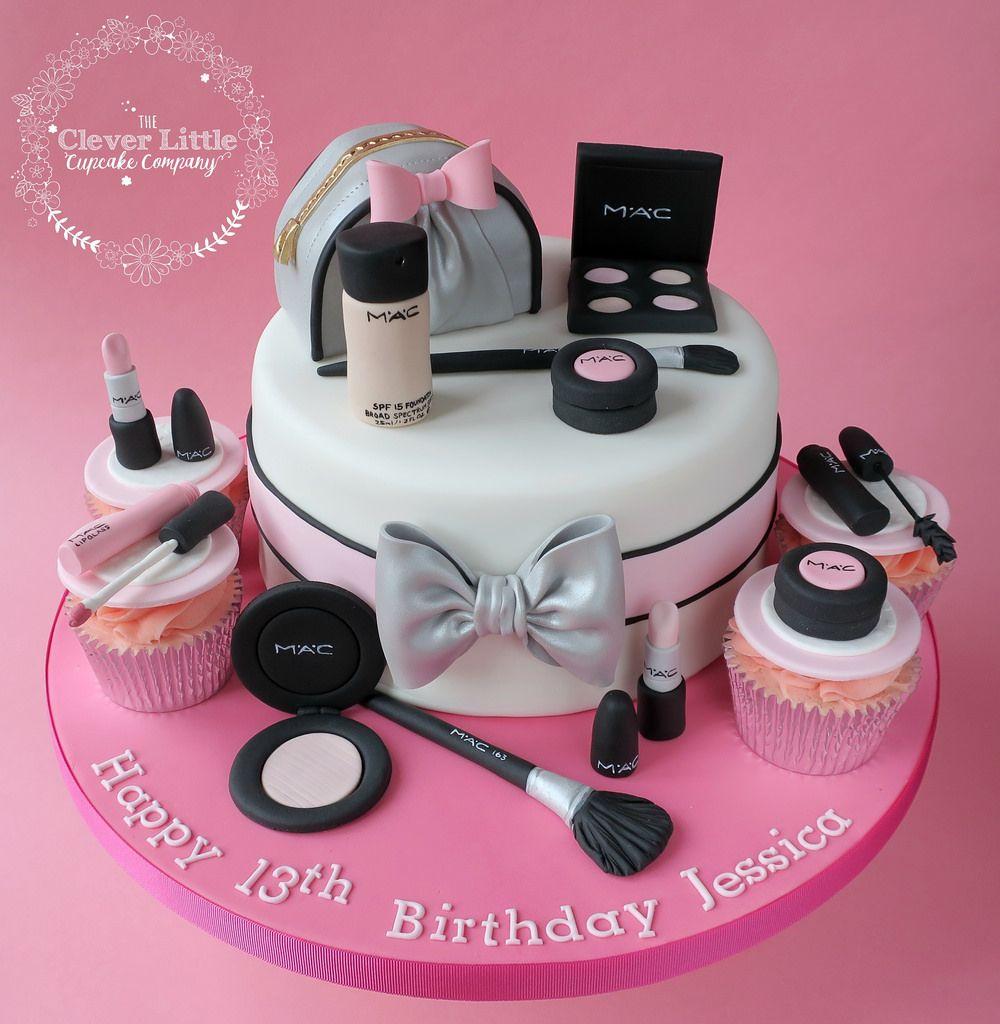 Mac Makeup Cake With Images Make Up Cake Makeup Birthday