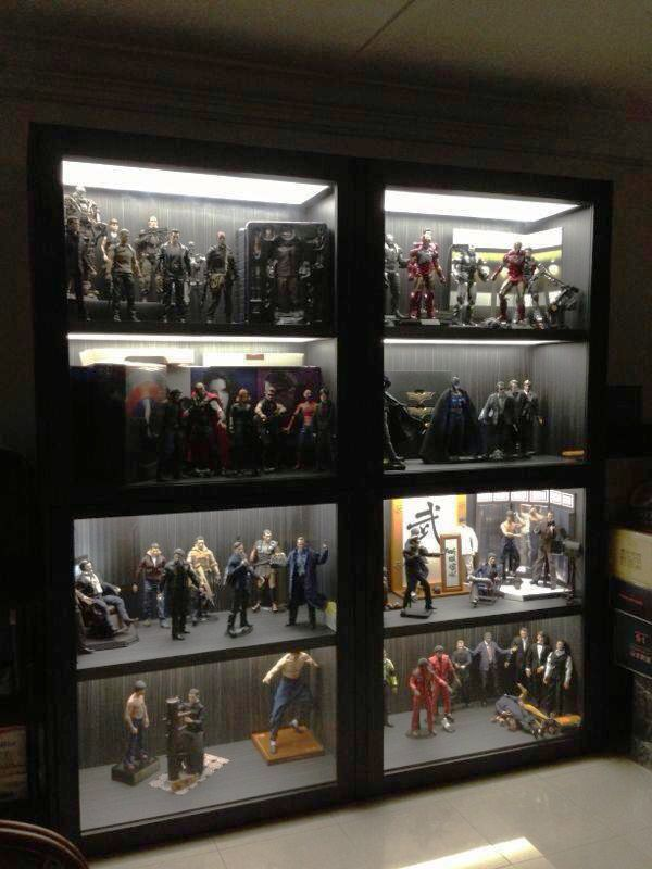 Wall Mounted Cabinet Toy Collection Display Glass Cabinets Display Displaying Collections