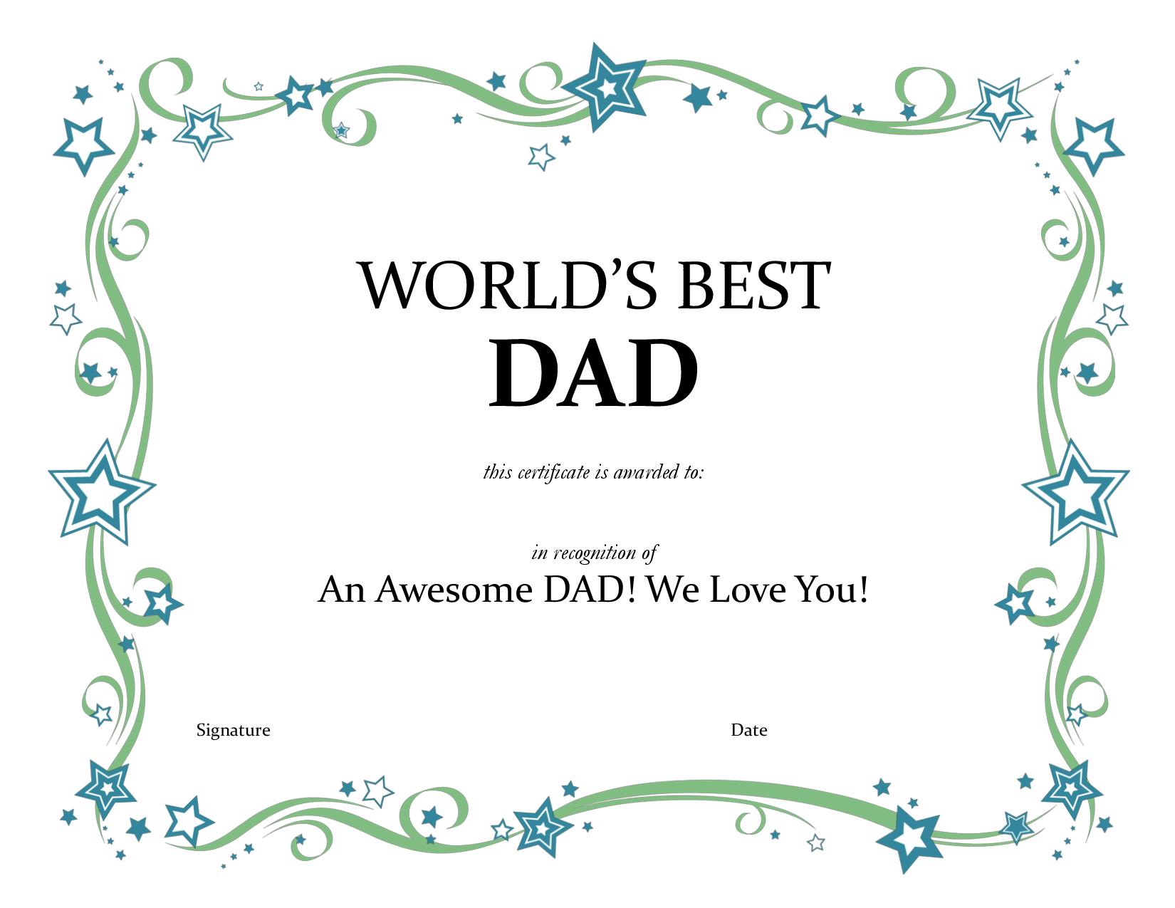 Worlds best dad certificatepdf by joe31255 i like pinterest worlds best dad certificatepdf by joe31255 yadclub Images