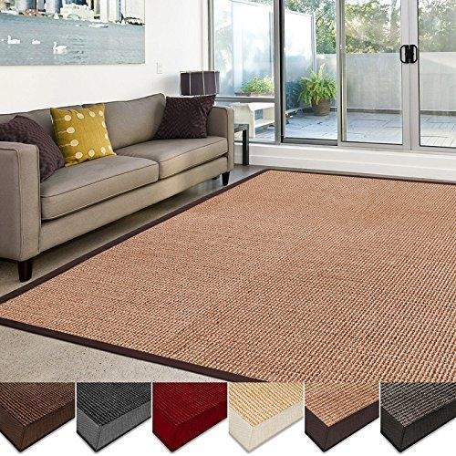 Home decorators collection casa pura sisal rug 100 natural fiber area rug nonskid ecofriendly throw carpet for entryway dining or living room