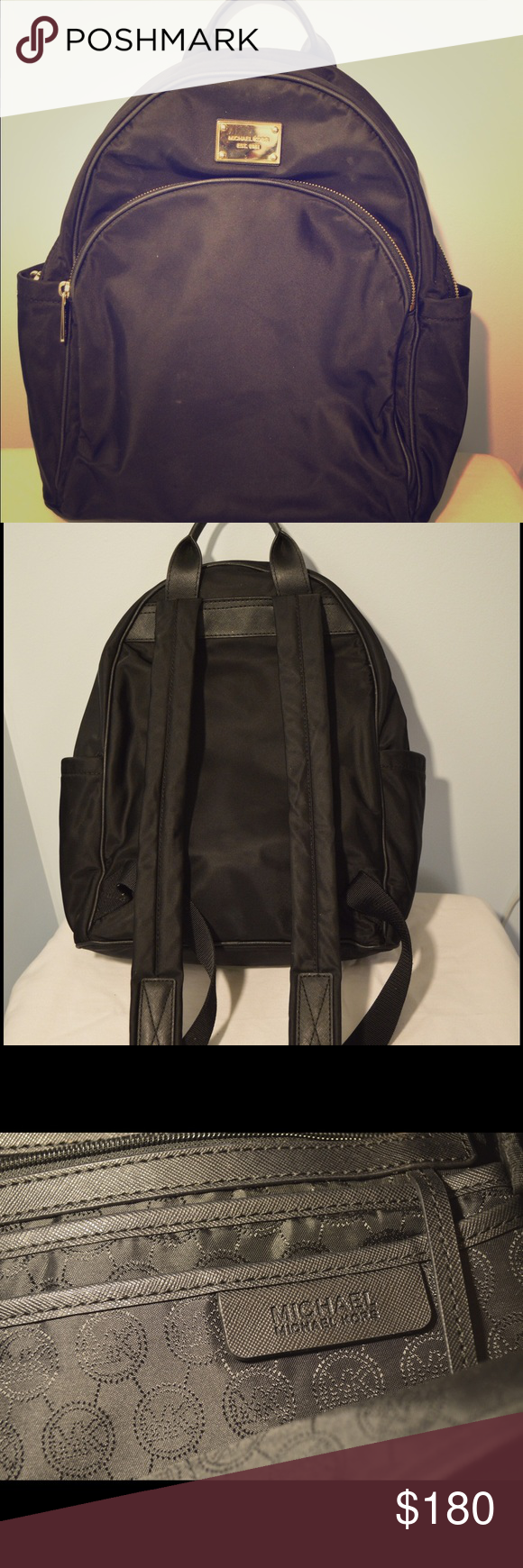 Michael Kors Backpack LIKE NEW! Michael Kors backpack! All zippers work and no holes or tears. Many pockets, great for students or travel! It even has a key ring inside for use as a purse. Michael Kors Bags Backpacks