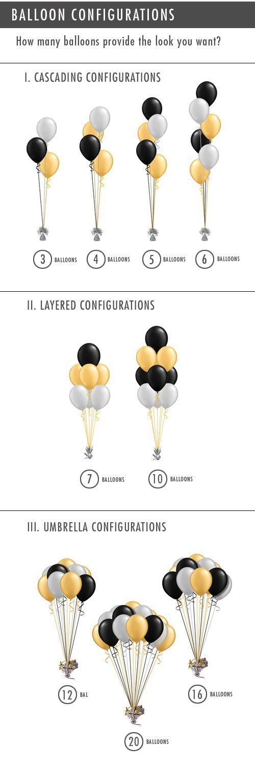Ideas para colocar los globos para que luzcan perfectos en vuestra fiesta. Inflarlos con helio en www.wonderfiesta.com