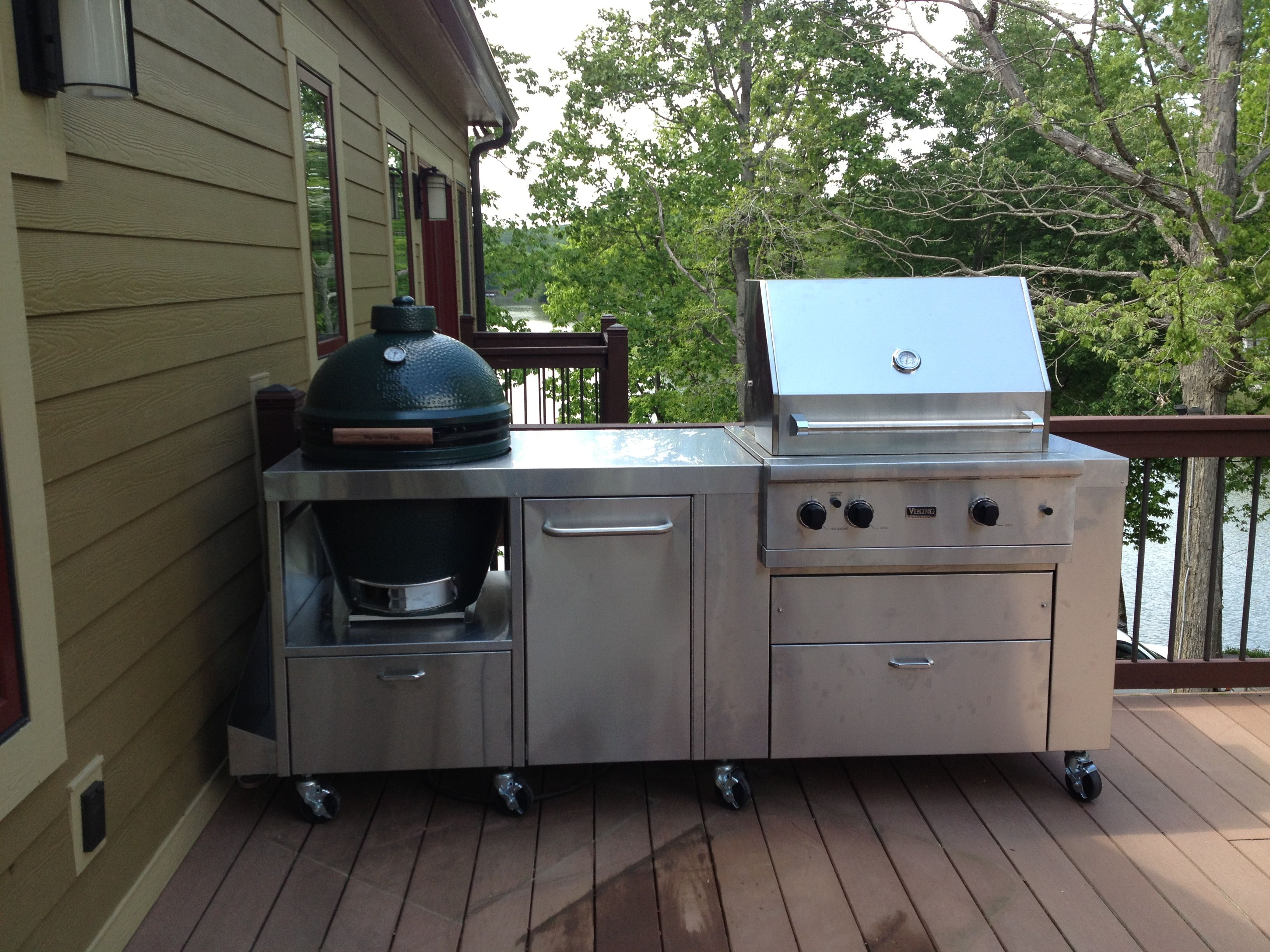 With Viking Grill Grill Stone Gas Grill Grill Table