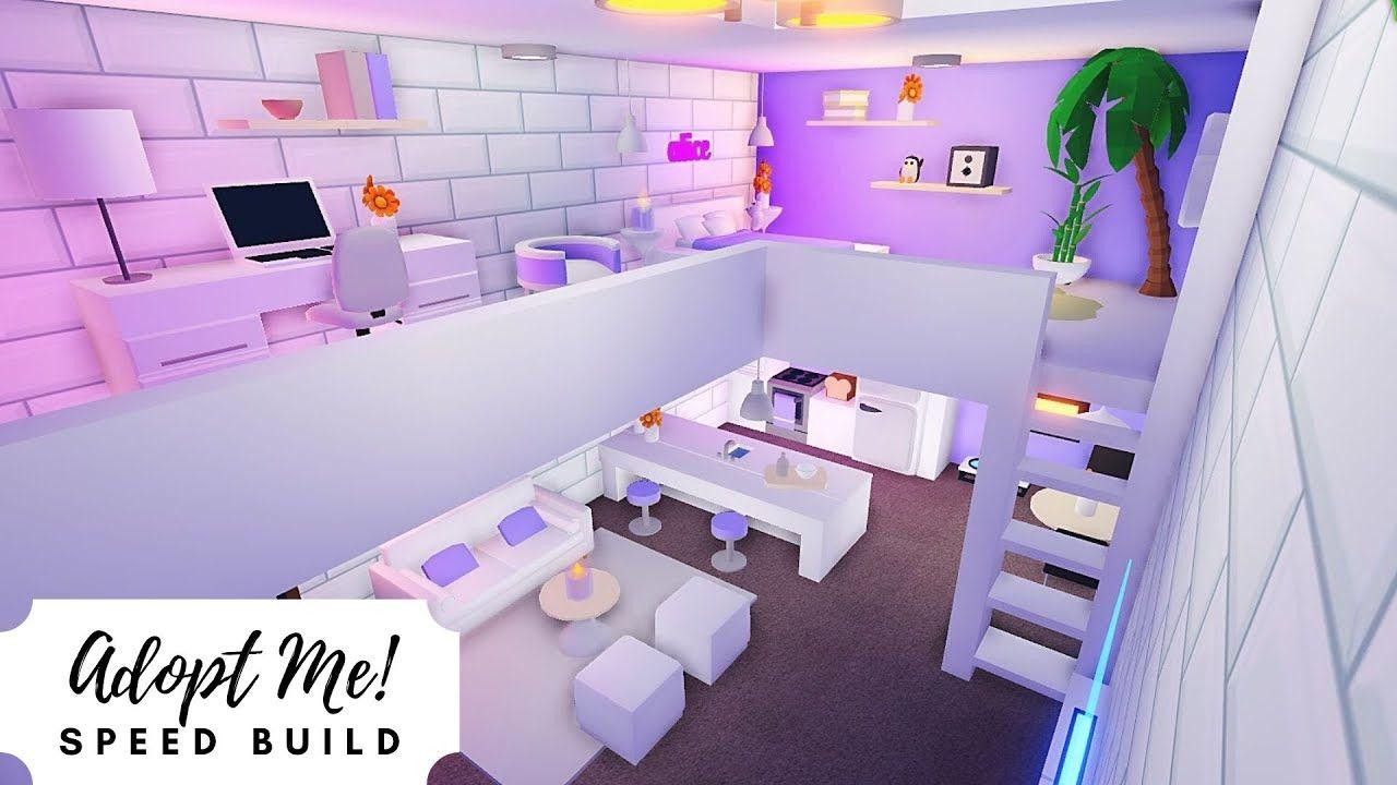 Luxury Apartment Lavender Aesthetic Room Roblox Adopt Me In 2020 Aesthetic Rooms Cute Room Ideas Unique House Design
