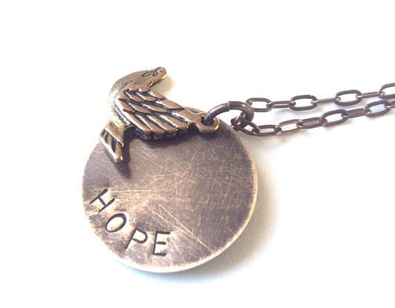 Rustic bird necklace inspirational pendant hope by WyomingCreative, $36.00